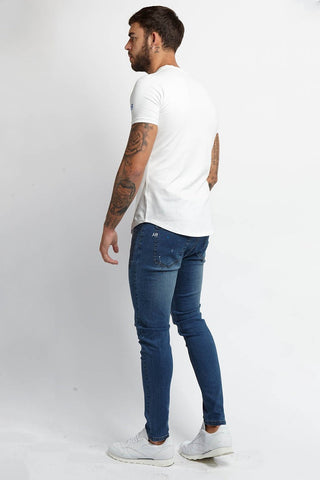 Always Rare Paint Splash Vincent Jeans - Blue - 3