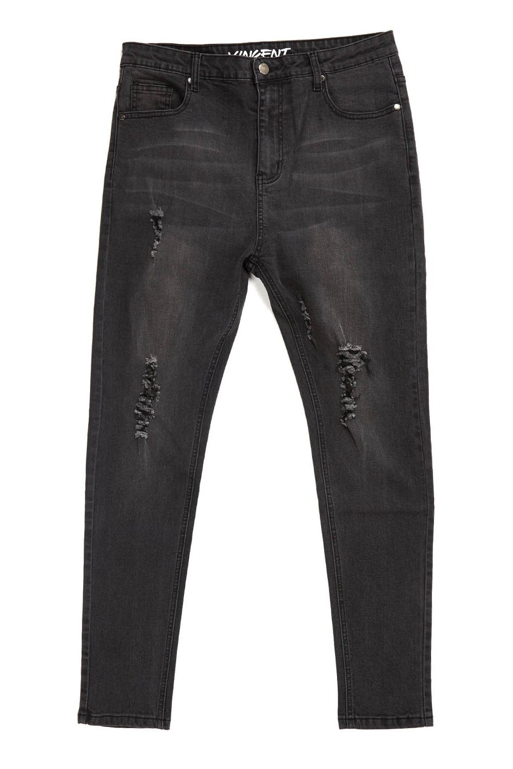 Always Rare Ripped Vincent Jeans - Black - 3
