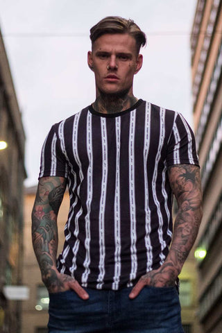 Avora London Blake Striped T-Shirt - Navy