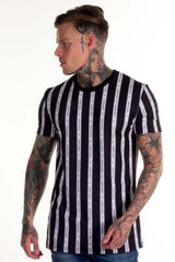 Avora London Blake Striped T-Shirt - Navy - 3