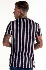 Avora London Blake Striped T-Shirt - Navy - 2