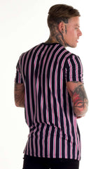 Avora London Jackson Striped T-Shirt - Navy/White/Pink