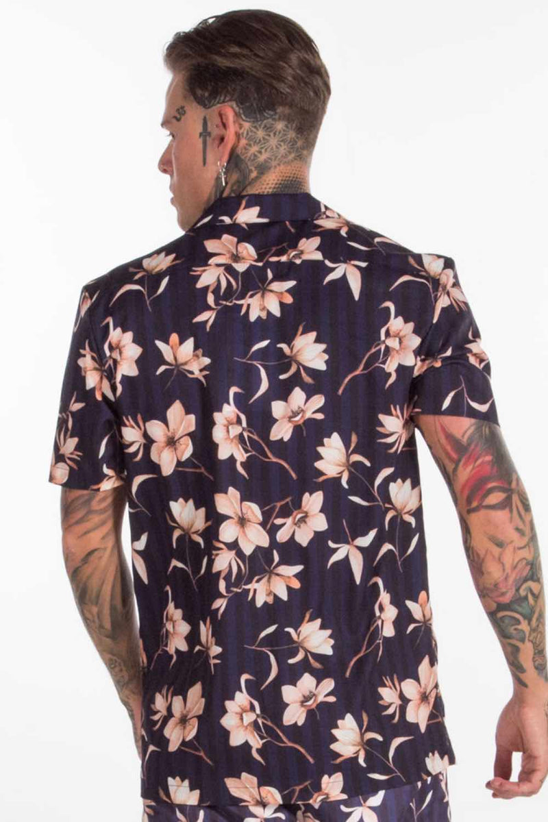 Avora London Vance Floral Resort Shirt - Navy - 3