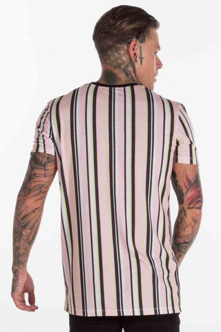 Avora London Zander Striped T-Shirt - Peach - 1