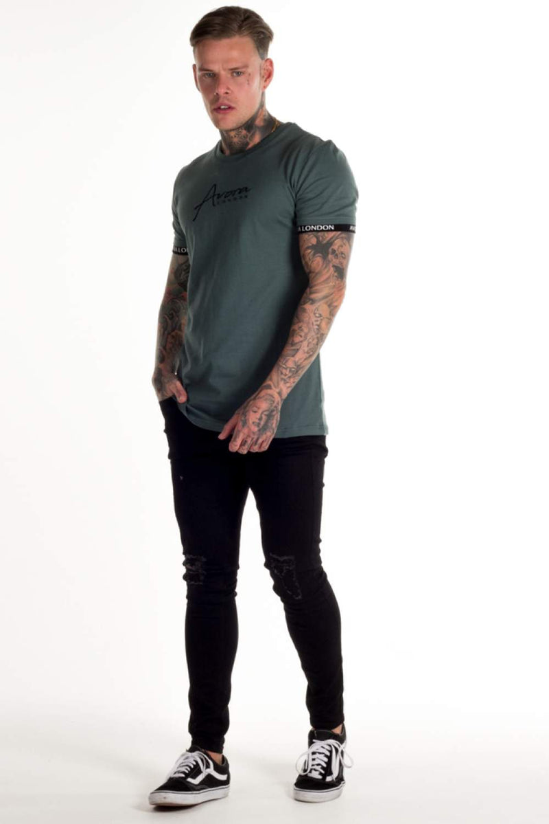 Avora London Zane T-Shirt - Khaki - 1