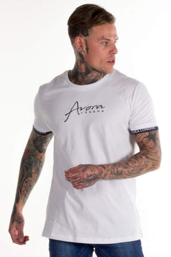 Avora London Zane T-Shirt - White/Navy