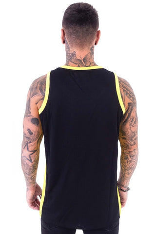 BADR Sport Basketball Vest - Black/Yellow - 1