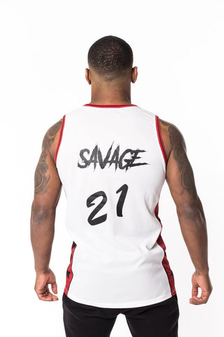 BADR Sport Basketball Vest Savage - White - 1
