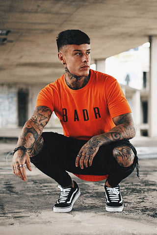 BADR Sport Tailored Fit Logo T-Shirt - Orange