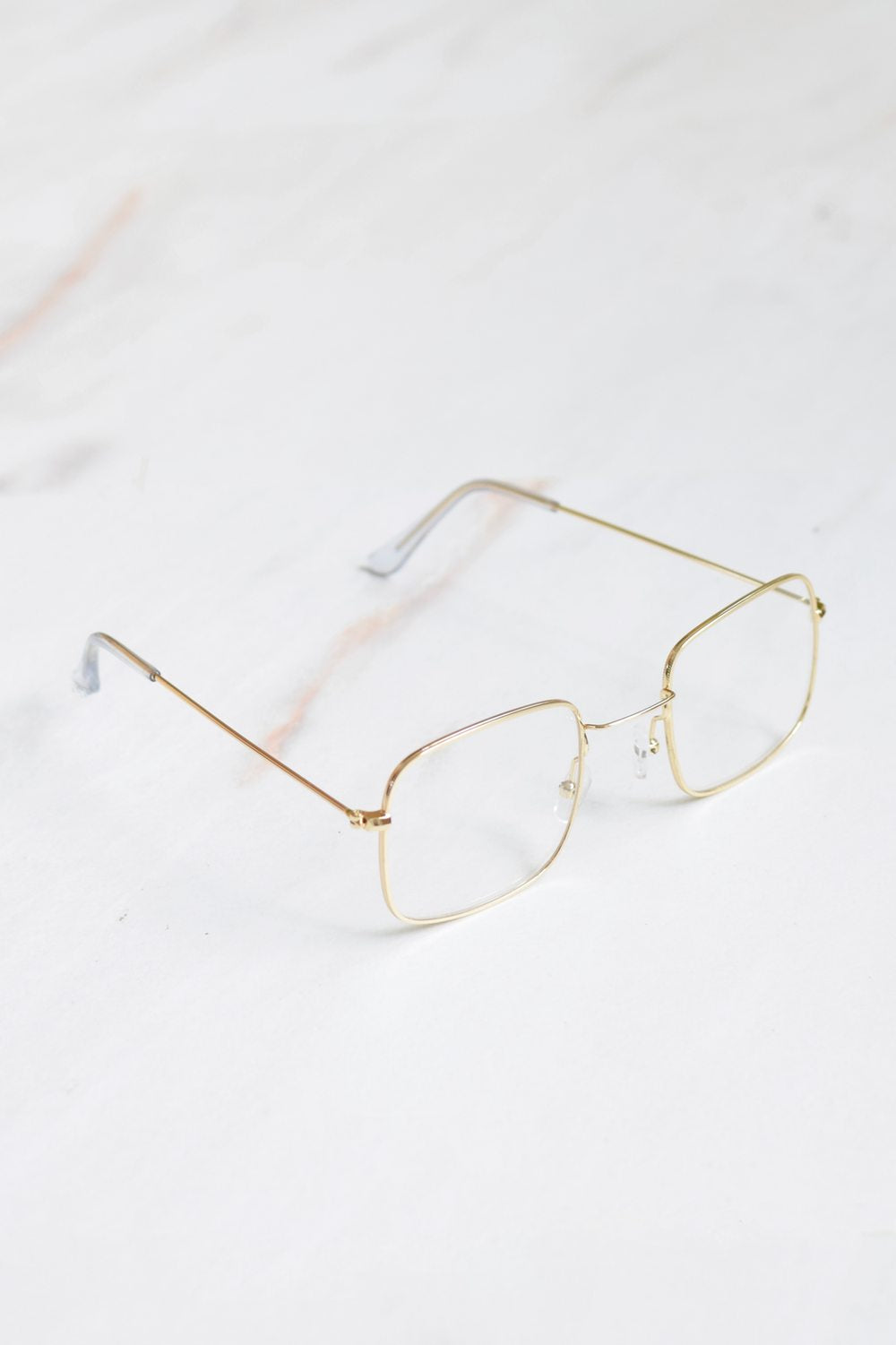 Cali Clear Lense Gold Frame Sunglasses