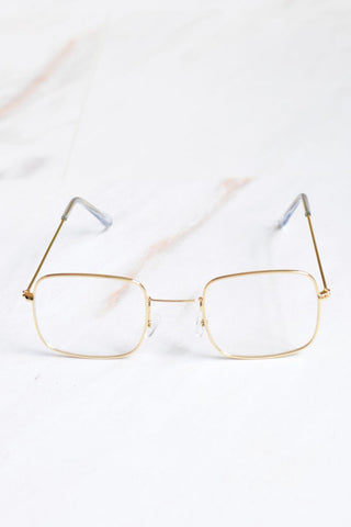 Cali Clear Lense Gold Frame Sunglasses - 1