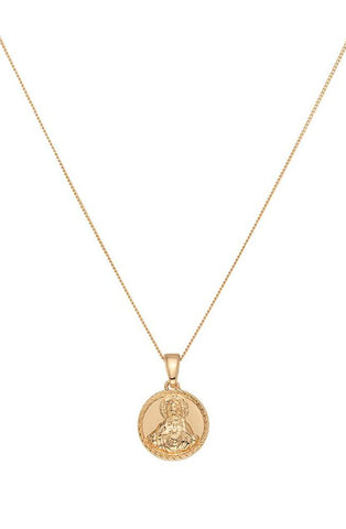 Chained & Able Blessed Medallion Necklace - Gold