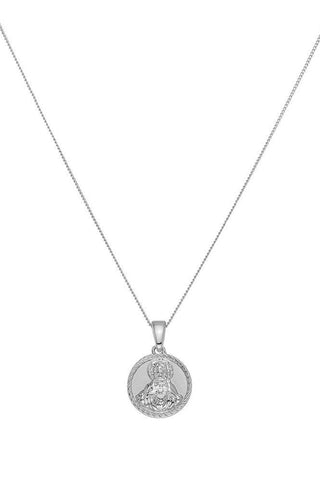 Chained & Able Blessed Medallion Necklace - Silver