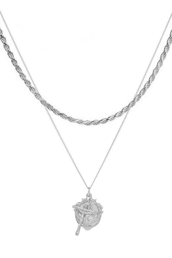 Chained & Able St Christopher Medallion Bunch Rope Pack - Silver