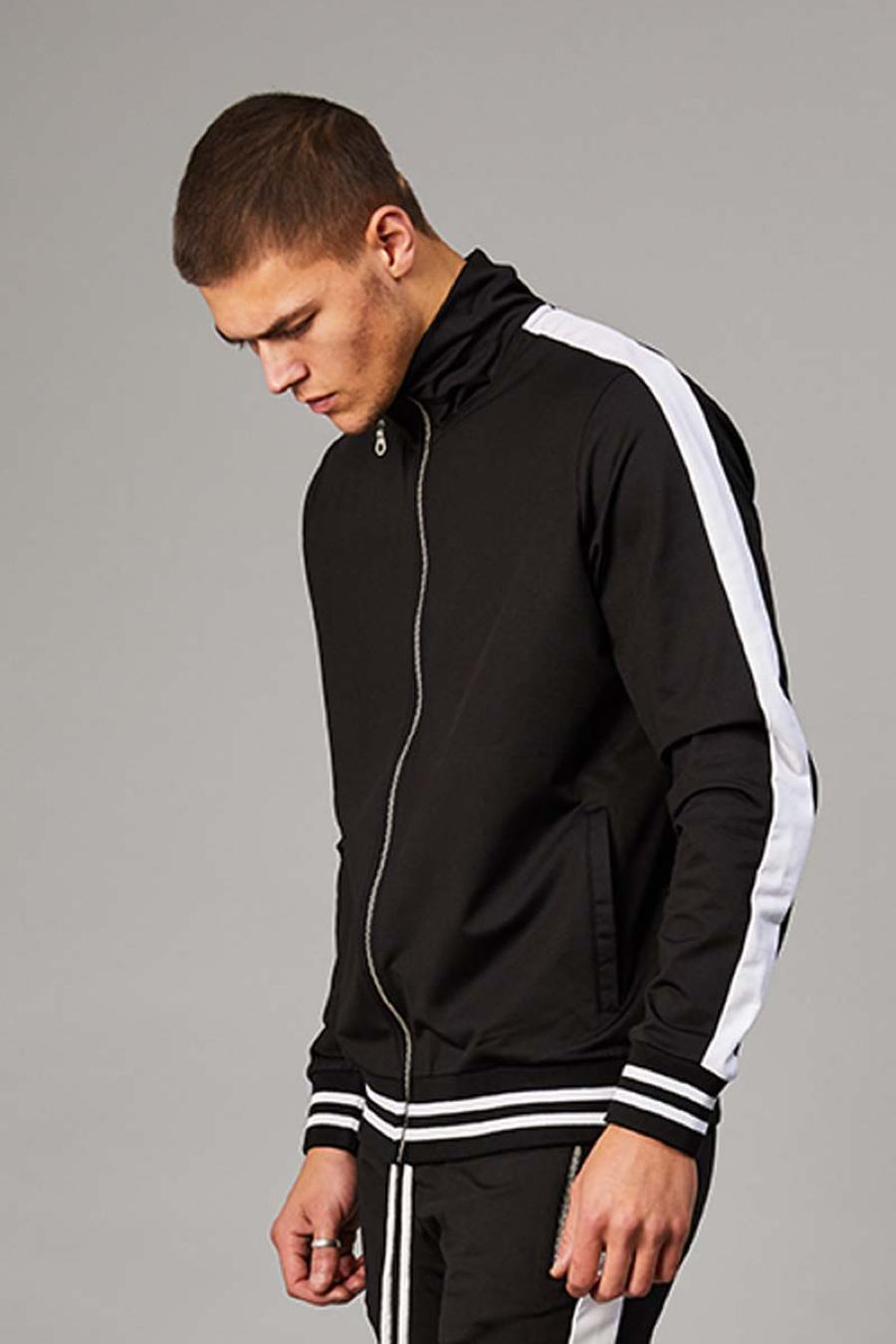 Criminal Damage Camden Track Top - Black/White