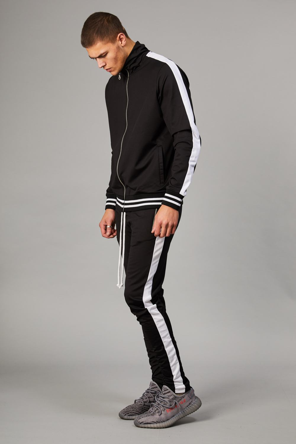 Criminal Damage Camden Track Top - Black/White - 2