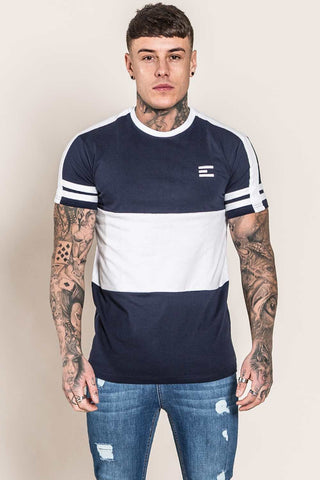 Emulate Huxley T-Shirt - Navy/White