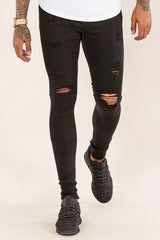 Emulate Marquee Ripped Skinny Jeans - Black