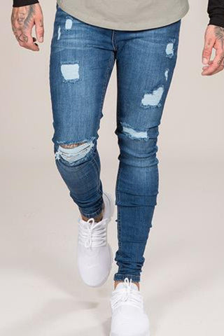 Emulate Marquee Ripped Skinny Jeans - Dark Wash
