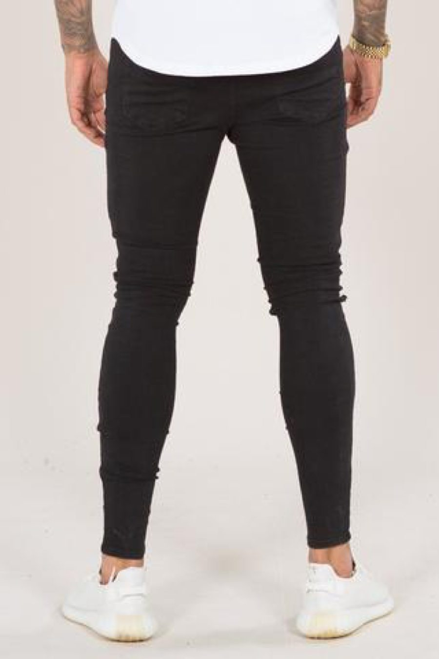 Emulate Mirano Spray on Ripped Skinny Jeans - Black - 2