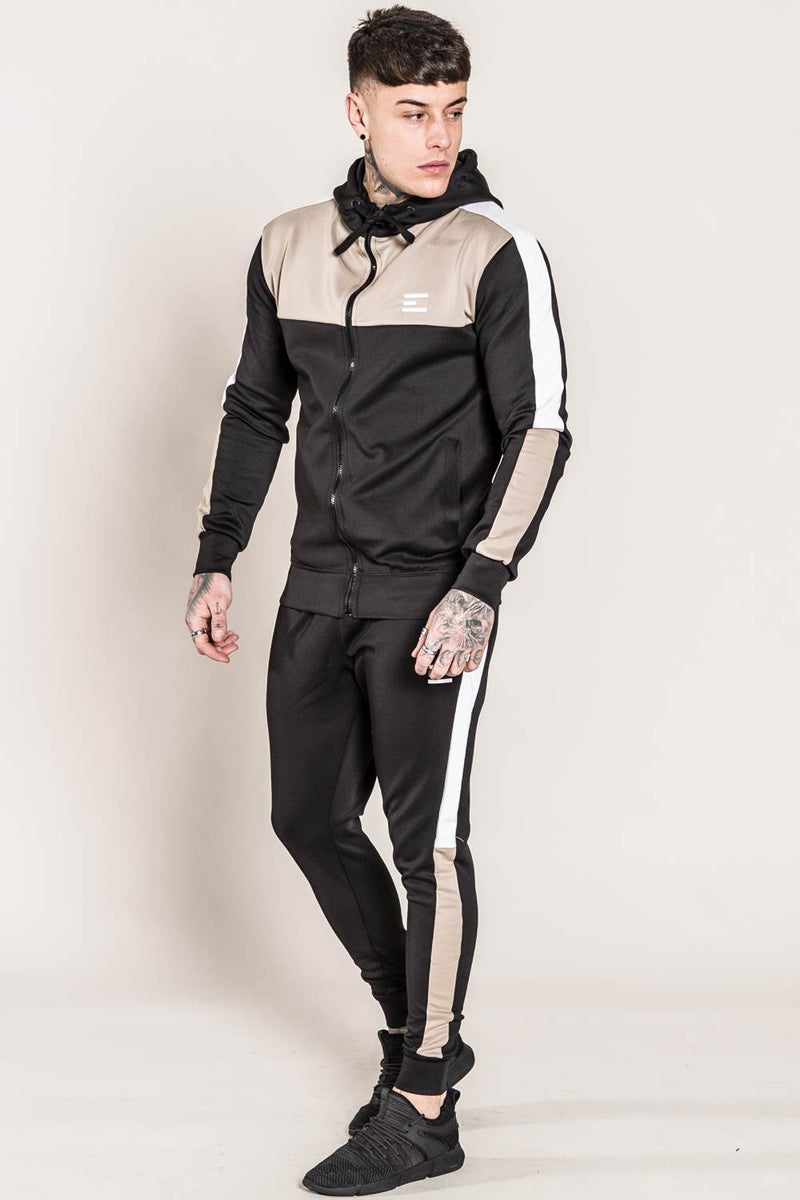 Emulate Onyx Tracksuit Set - Black/Sand - 1