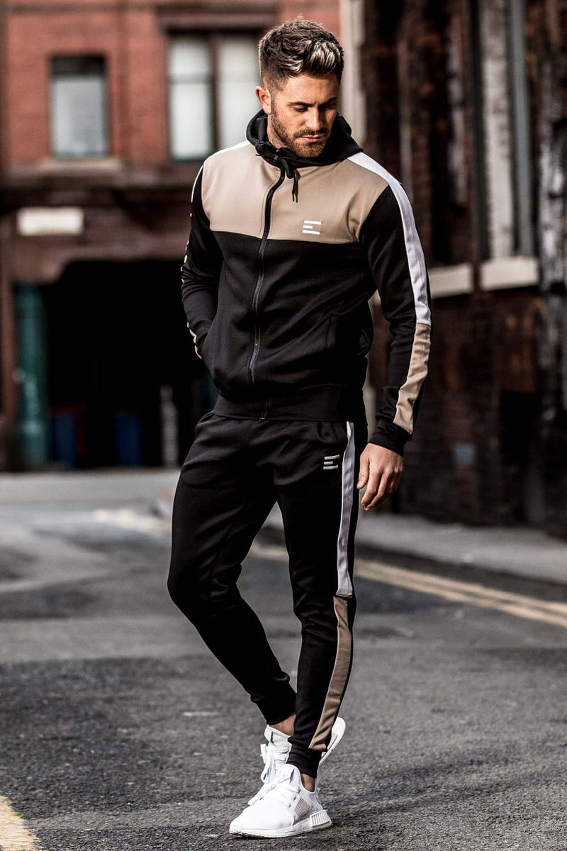 Emulate Onyx Tracksuit Set - Black/Sand