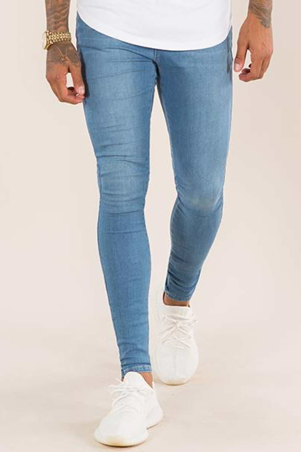 Emulate Super Spray On Skinny Jeans - Light Wash - 1