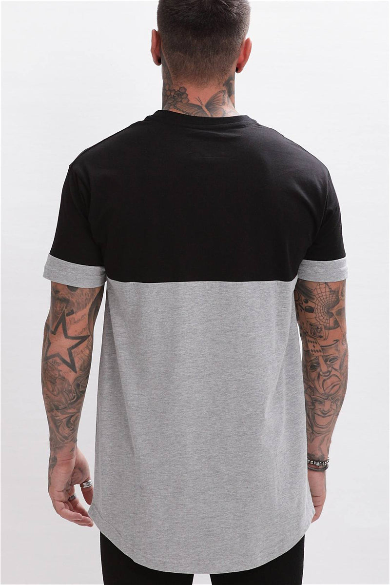 Enuki London Nasai Drop Shoulder Tee - Black/Grey - 2