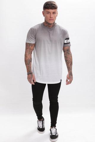 Enuki London Sapporo Dip Dye T-Shirt  - Grey/White - 1