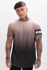 Enuki London Sapporo Dip Dye T-Shirt - Hazelnut/Black