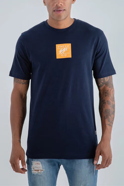 Fresh Ego Kid Small  Box Logo T-Shirt - Navy
