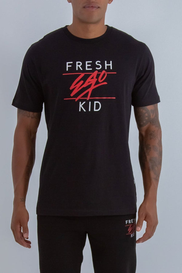 Fresh Ego Kid Heritage Logo T-Shirt - Black/Red
