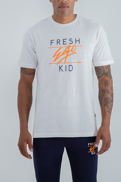 Fresh Ego Kid Heritage Logo T-Shirt - White
