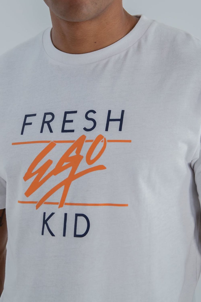 Fresh Ego Kid Heritage Logo T-Shirt - White - 1