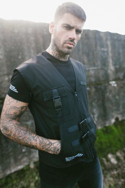 Fresh Couture Invicta Utility Vest - Black