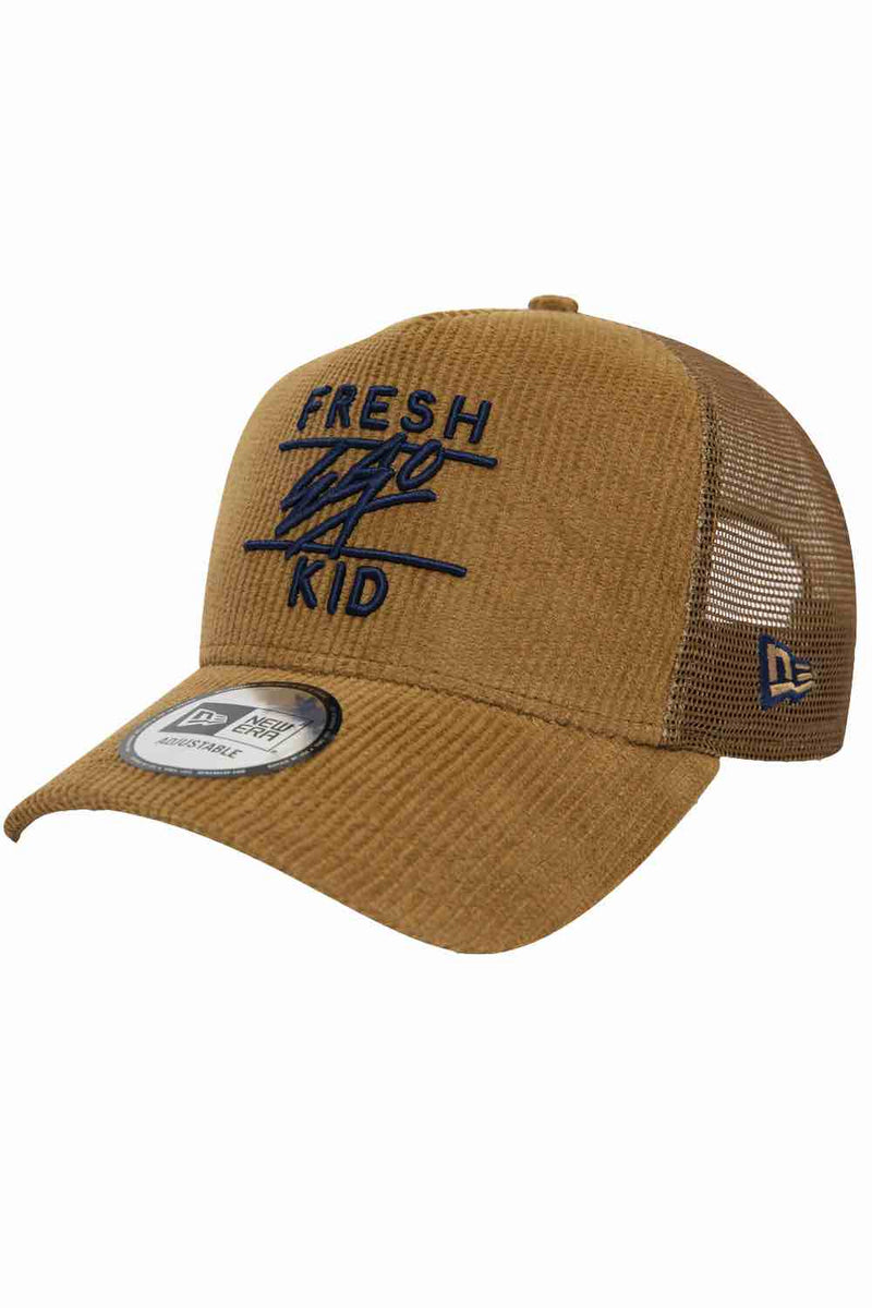 Fresh Ego Kid New Era Cord Trucker Cap - Tan - 1