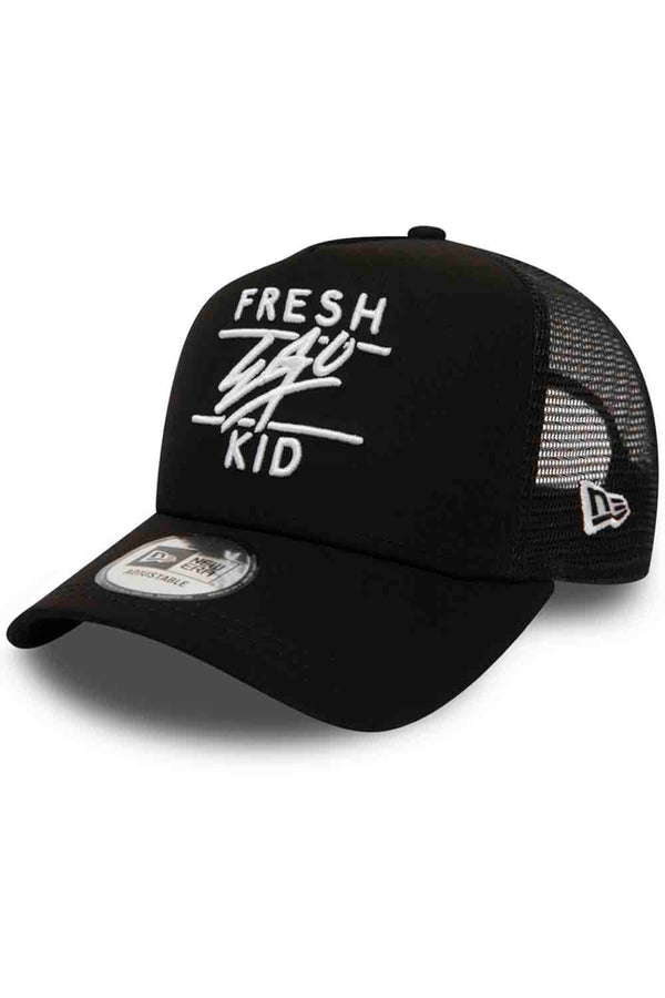 Fresh Ego Kid New Era Cotton Twill Mesh Cap - Black - 1