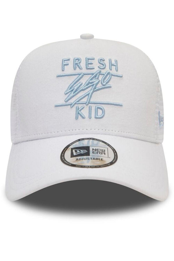 Fresh Ego Kid New Era Mesh Trucker Cap  - White
