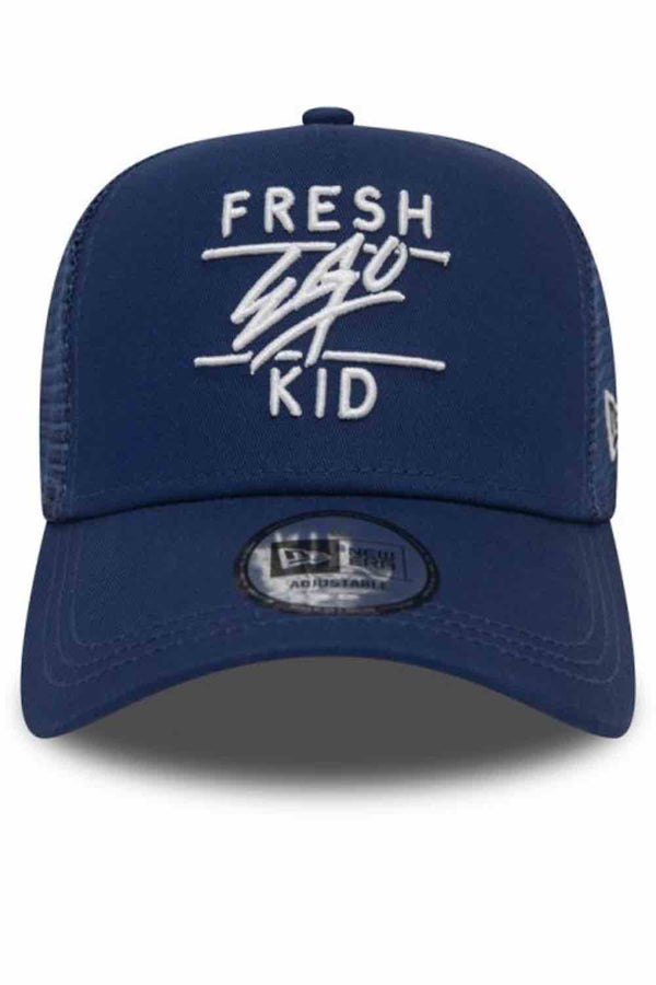 Fresh Ego Kid New Era Mesh Trucker Cap - Navy