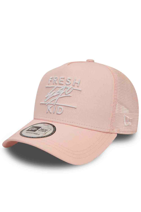 Fresh Ego Kid New Era Mesh Trucker Cap - Rosewater - 1
