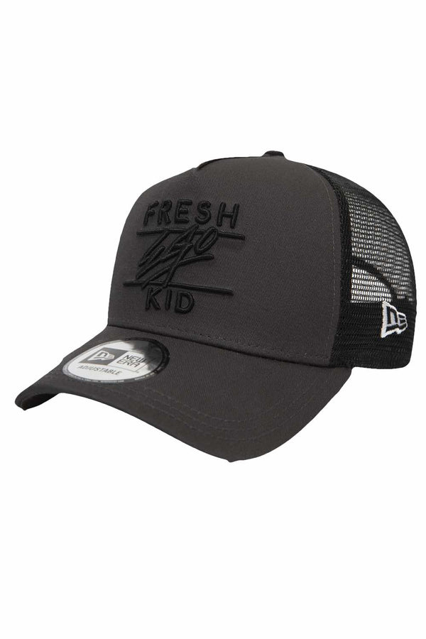 Fresh Ego Kid New Era Trucker Mesh Cap - Dark Grey - 2