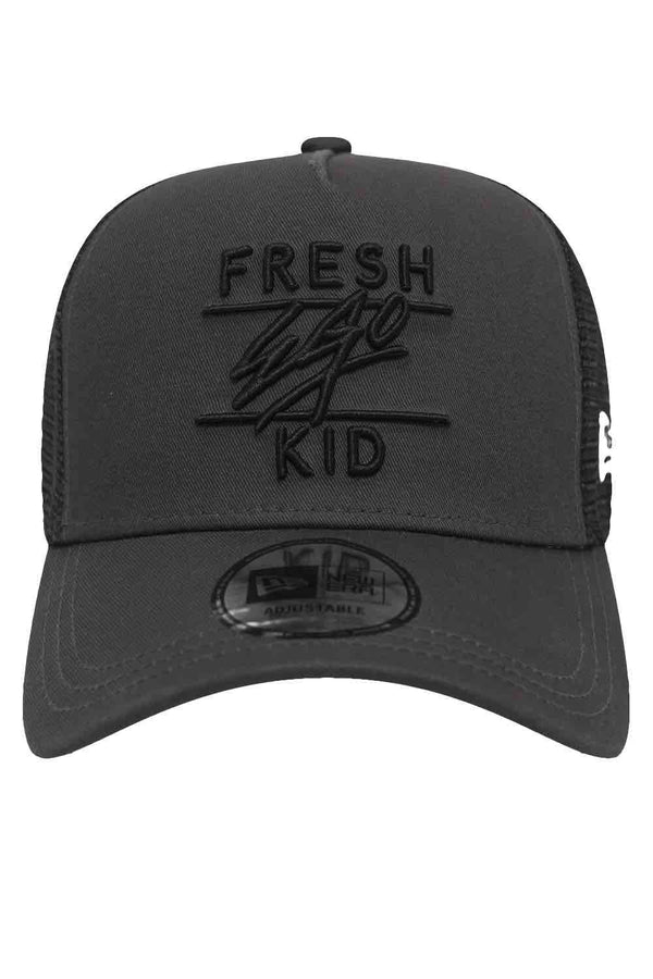 Fresh Ego Kid New Era Trucker Mesh Cap - Dark Grey