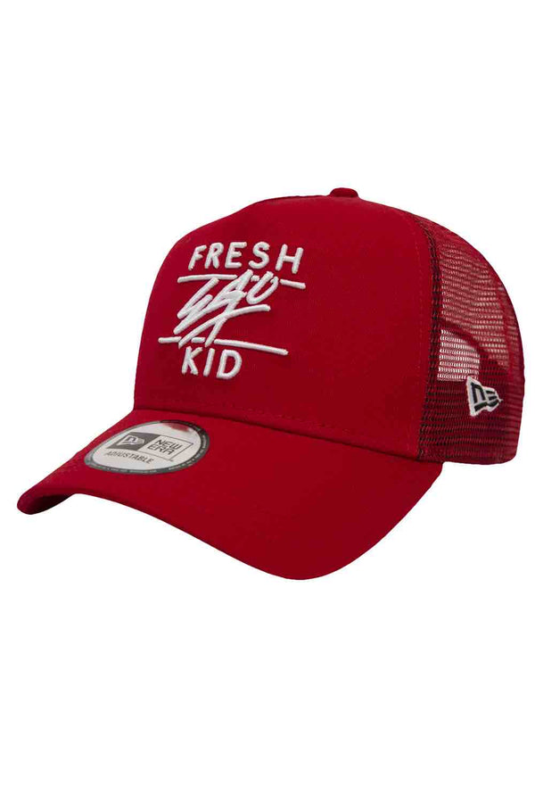 Fresh Ego Kid New Era Trucker Mesh Cap - Red - 2