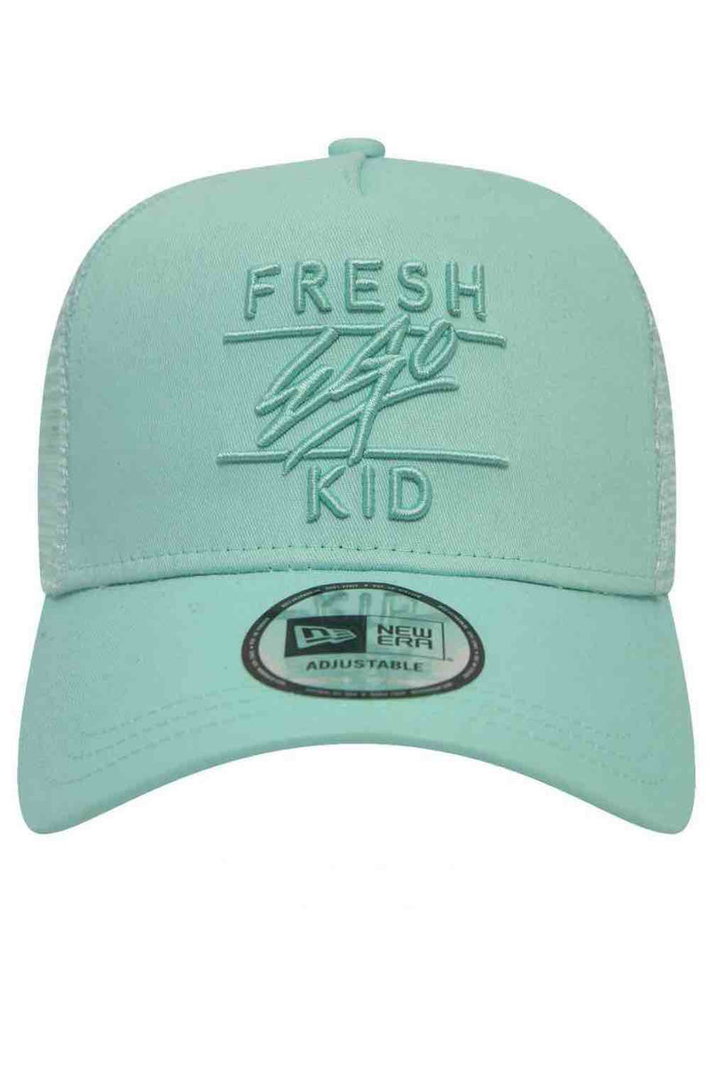 Fresh Ego Kid New Era Trucker Mesh Cap - Mint