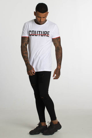 Fresh Couture Austin T-Shirt - White/Red