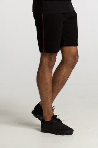 Fresh Couture Austin Shorts - Black/Red - 1