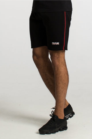 Fresh Couture Austin Shorts - Black/Red