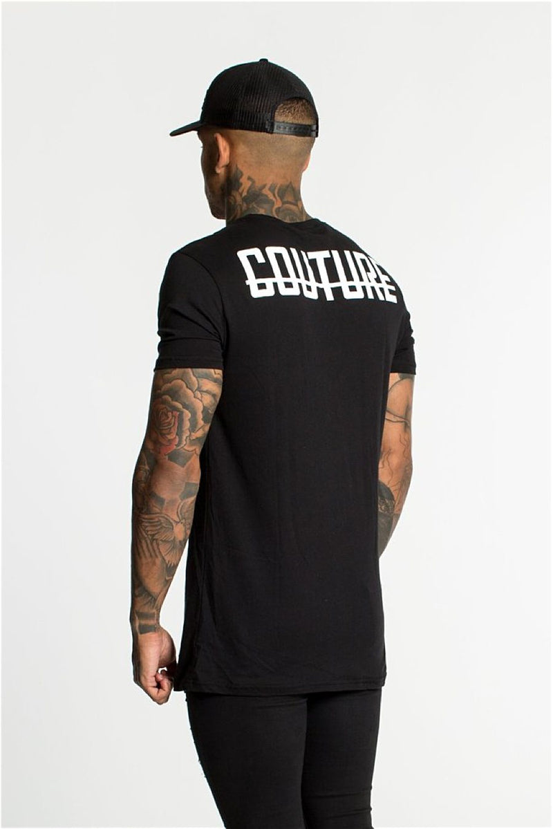 Fresh Couture Back Logo Longline Tee - Black - 3