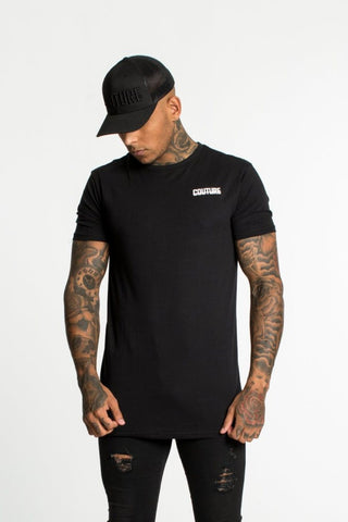 Fresh Couture Back Logo Longline Tee - Black - 1
