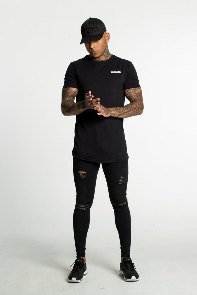 Fresh Couture Back Logo Longline Tee - Black - 2